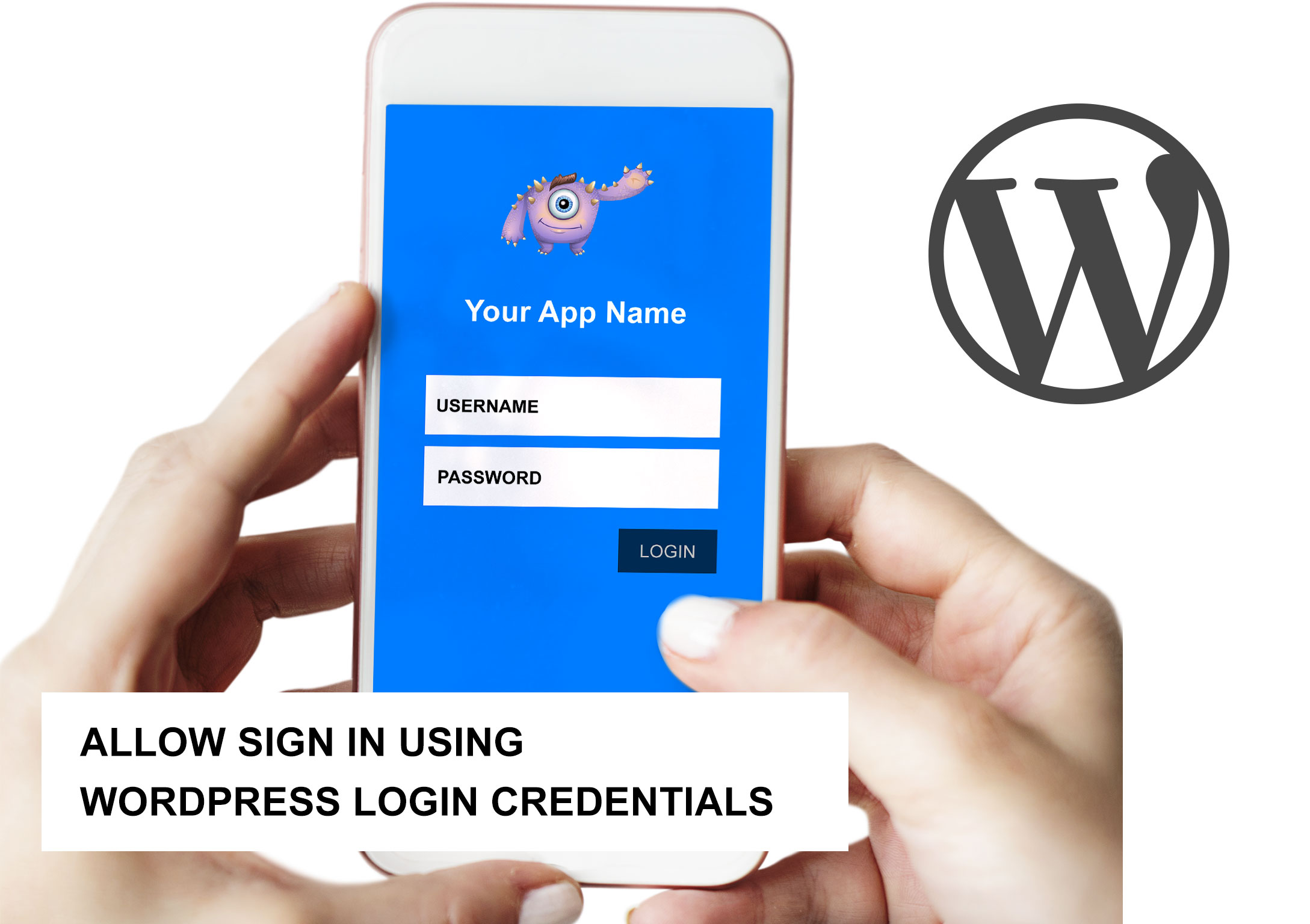 Log in to a mobile app using WordPress Credentials.